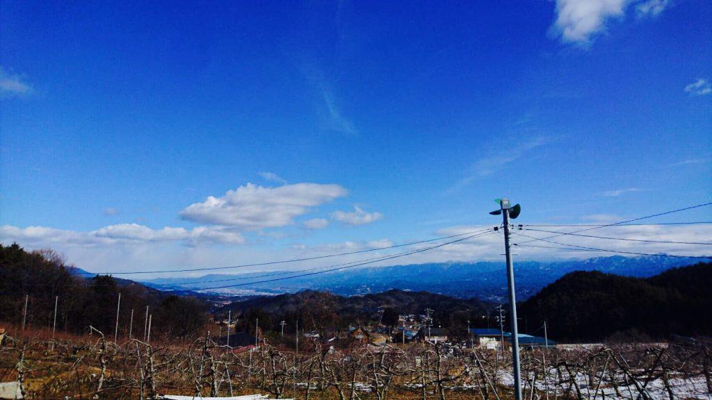 〜冬晴れや白雲ひとつ影もなし〜